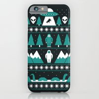 iPhone Cases featuring Paranormal Xmas by Teo Zirinis