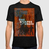 The Grapes of Wrath Mens Fitted Tee Tri-Black SMALL