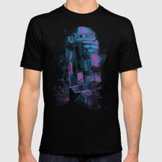 R2D2 Mens Fitted Tee SMALL Black