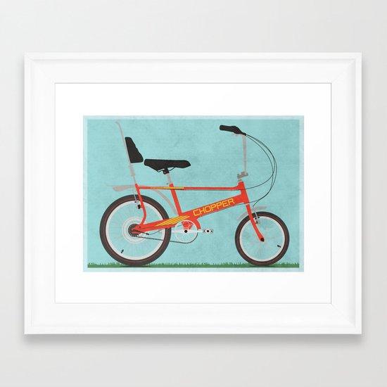 Chopper Bike Framed Art Print