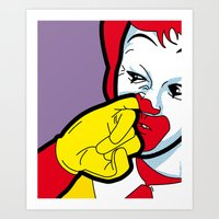 The secret life of heroes - Fast Food Art Print