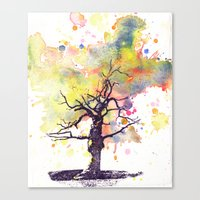 Alone Dead Tree Canvas Print