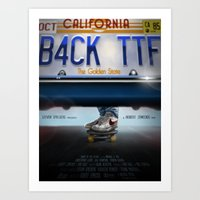 Back To The Future - Bruin Art Print