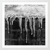'Icicles'  Art Print