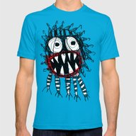 MONSTER Mens Fitted Tee Teal SMALL