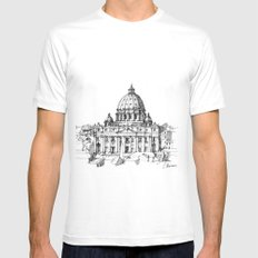 Basilica di S. Pietro a Roma SMALL White Mens Fitted Tee