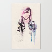 Canvas Print featuring Poxleitner LiGHTS ver.2 by  Maʁϟ