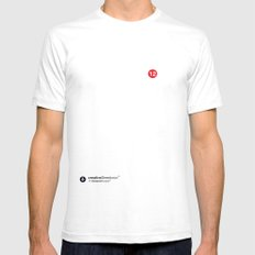 SocialCloud Mens Fitted Tee White SMALL
