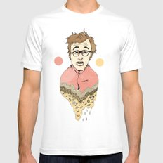 Woody Allen's Ghost Mens Fitted Tee White SMALL