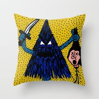 CLEVER-MEAN-EVERGREEN. Throw Pillow