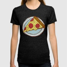 Pizza Experiment Womens Fitted Tee Tri-Black SMALL