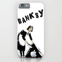 Banksy Sweeping Under Th… iPhone 6 Slim Case