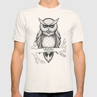 Owl Be Seeing You Mens Fitted Tee Natural SMALL
