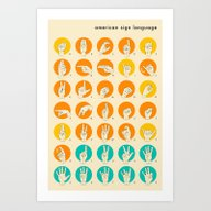 AMERICAN SIGN LANGUAGE H… Art Print