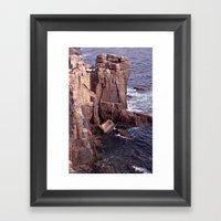 Acadia National Park Roc… Framed Art Print