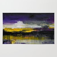 Purple Abstract Landscape Rug