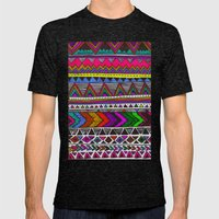▲PONCHO ▲ Mens Fitted Tee Tri-Black SMALL