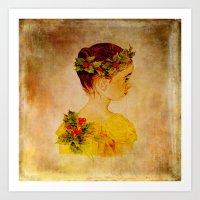 Pretty_vintage_girl Art Print