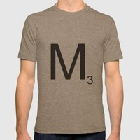 Scrabble M Mens Fitted Tee Tri-Coffee SMALL