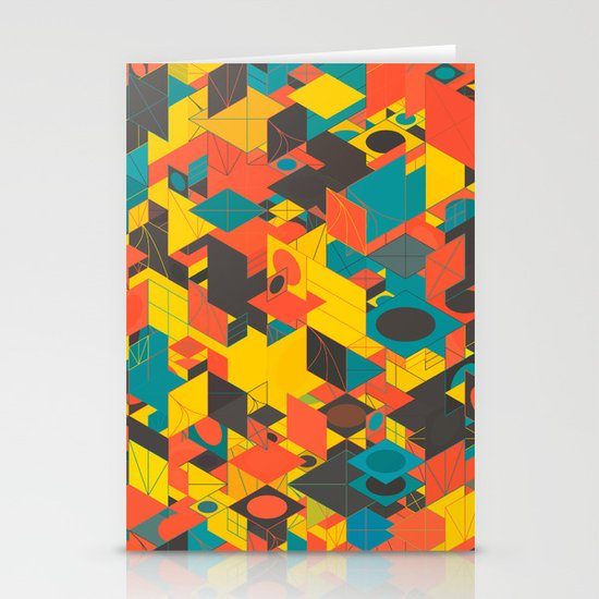 Panelscape: colours from Space Filler Stationery Card