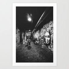 Seattle, Post Alley Mura… Art Print