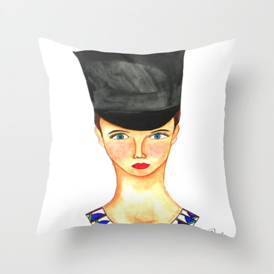 Soldier Girl Throw Pillow