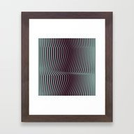OpArt WaveLines 1 Framed Art Print