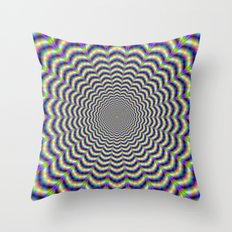 Crinkle Cut Circles Throw Pillow