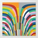 Rainbow Bricks Canvas Print