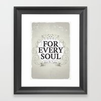 Every Soul Framed Art Print