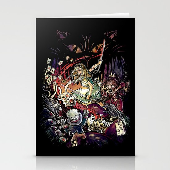 Zombies in Wonderland Stationery Card