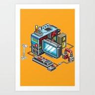 Art Print featuring 8bit Computer by Sergey Kostik