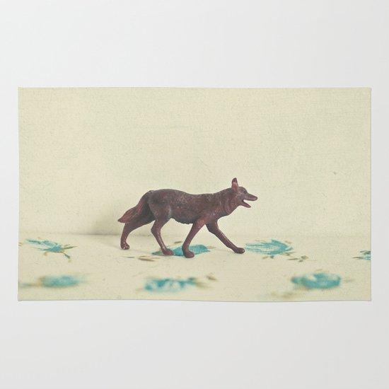 Wandering Wolf Area & Throw Rug
