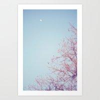Peek-a-Boo Moon Art Print