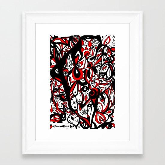 into my eye Framed Art Print
