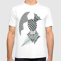 Fish Egg Creature Mens Fitted Tee White SMALL