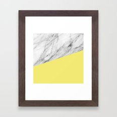 Marble and Yellow Framed Art Print