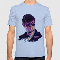 SYLVESTER STALLONE: BAD… Mens Fitted Tee Tri-Blue SMALL