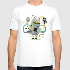 Promenade White SMALL Mens Fitted Tee