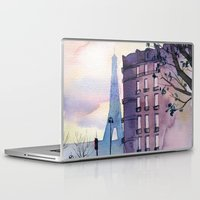 paris Laptop & iPad Skins featuring Paris by Emma Reznikova