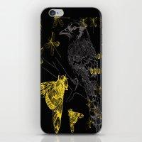 iPhone & iPod Skin featuring Bird & Beetles by VitaliGisko