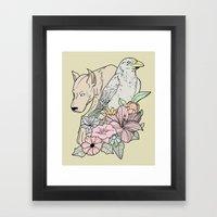 Si Canem Corvus Framed Art Print