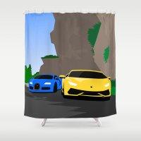 Lamborghini & Bugatti Shower Curtain