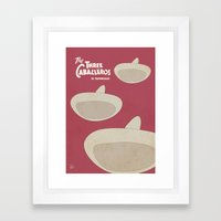 The Three Caballeros - Alternative Poster Framed Art Print