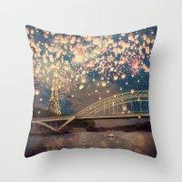 Love Wish Lanterns Over … Throw Pillow
