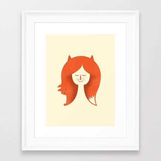 Foxy Lady Framed Art Print