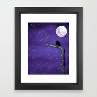 Moonlit Winter Sky Framed Art Print