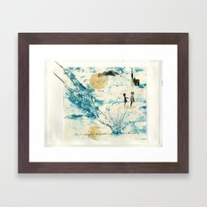 Mermaid of Zennor collagraph 3 Framed Art Print