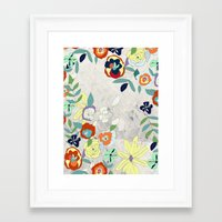 Saturday Florals Framed Art Print