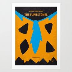 No669 My The Flintstones minimal movie poster Art Print